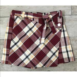 Zara Collection Girls Shorts/Skorts Plaid 13/14